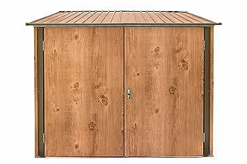 Caseta para bicicletas de metal para cuatro bicicletas, con cerradura, garaje para bicicletas, caseta para bicicletas: Amazon.es: Jardín