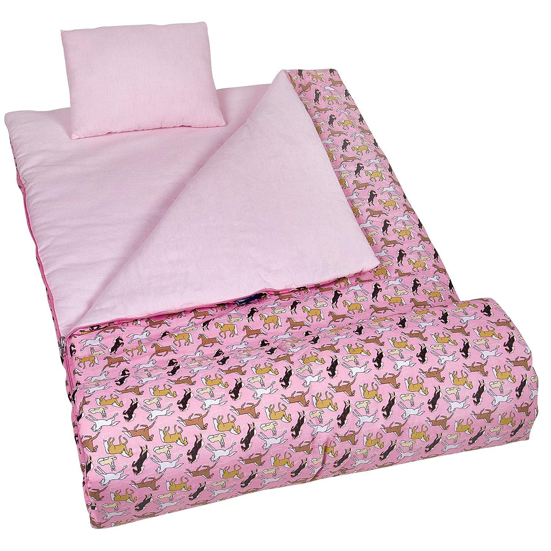 Amazon Sleeping Bag Wildkin Original Childrens Sleep Sack With Matching Travel Pillow And Storage Cotton Microfiber Exterior 100 Flannel