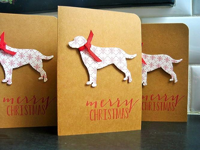 dog christmas cards set of 4 doggy holiday cards labrador christmas cards