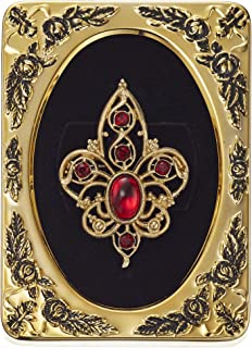 product image for 1928 Jewelry Framed Gold-Tone Red Crystal Filigree Pin