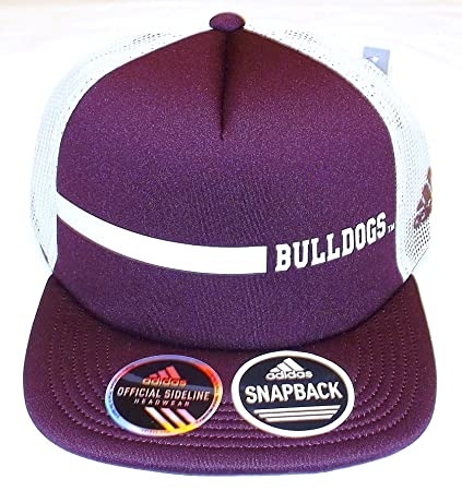 0c30199ec68fa Image Unavailable. Image not available for. Color  adidas Mississippi State  Bulldogs Flat BIll Trucker Hat ...