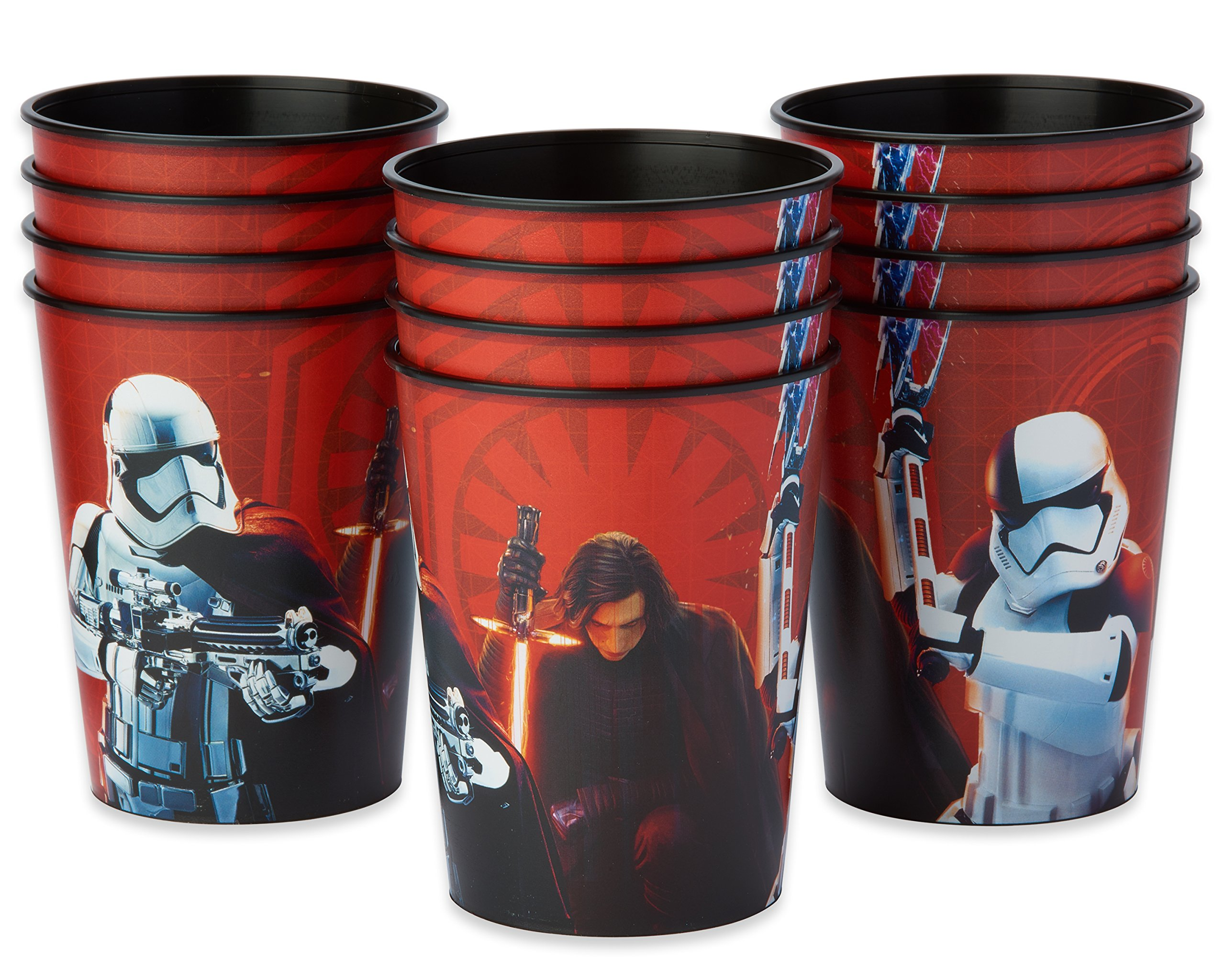American Greetings Star Wars: The Last Jedi 12 Count 16 oz Plastic Party Cups, Stadium