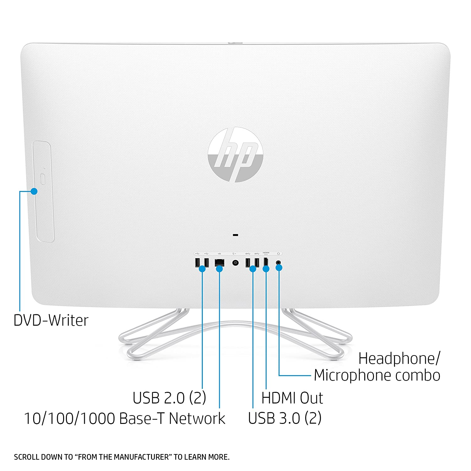 Hp Pavilion 24 Inch All In One Computer Intel Core I5 The Diagrams Below Identify Major Components Of Intelr Desktop 7200u Dual 8gb Ram 1tb Hard Drive Windows 10 E030 White Computers