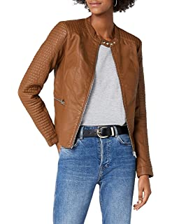 84489b0b9a24 ONLY Damen Jacke Onlnew Start Faux Leather Biker CC OTW  Amazon.de ...