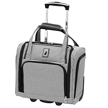 e780cf928 Amazon.com | London Fog Cambridge Ultra-Lightweight 15inch 2-Wheel Under  The Seat Bag, Black/White Houndstooth | Carry-Ons