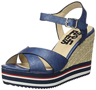 64090, Sandales Bout Ouvert Femme, Or (Oro), 38 EURefresh