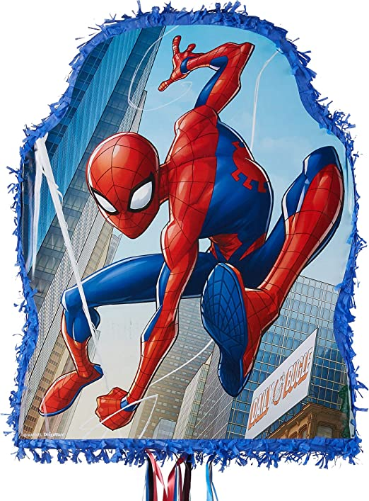 20 Spiderman Shape STICKERS Party Favors Supplies Treat Loot Bags Spider-Man