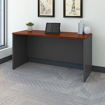 Amazon.com: Bush Business Furniture Series C 60W X 24D Credenza Desk In  Hansen Cherry: Kitchen U0026 Dining