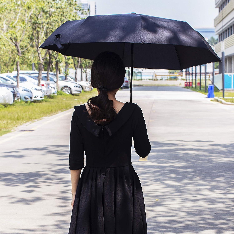 Teflon Coat Rain Unbrella Fits In Backpack by Trip Pardner Umbrella Automatic Open Close Black