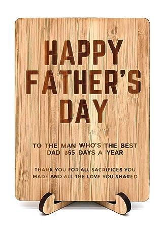 Amazon.com: Feliz día del padre día del padre Tarjeta de ...