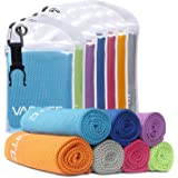 Vacnite Cooling Towel for Instant Relief, 100cm x 30 cm, with Portable Clip Hook Bag. Ice Cold when Wet, Lightweight, Long Lasting and Super Absorbent, Perfect for Hot Weather, Gym and Outdoor Activities