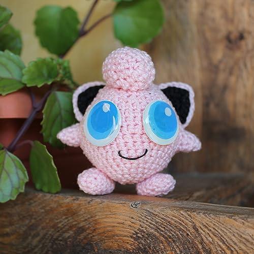 Handgefertigt Häkeln Jigglypuff Stofftier Amigurumi Geschenk