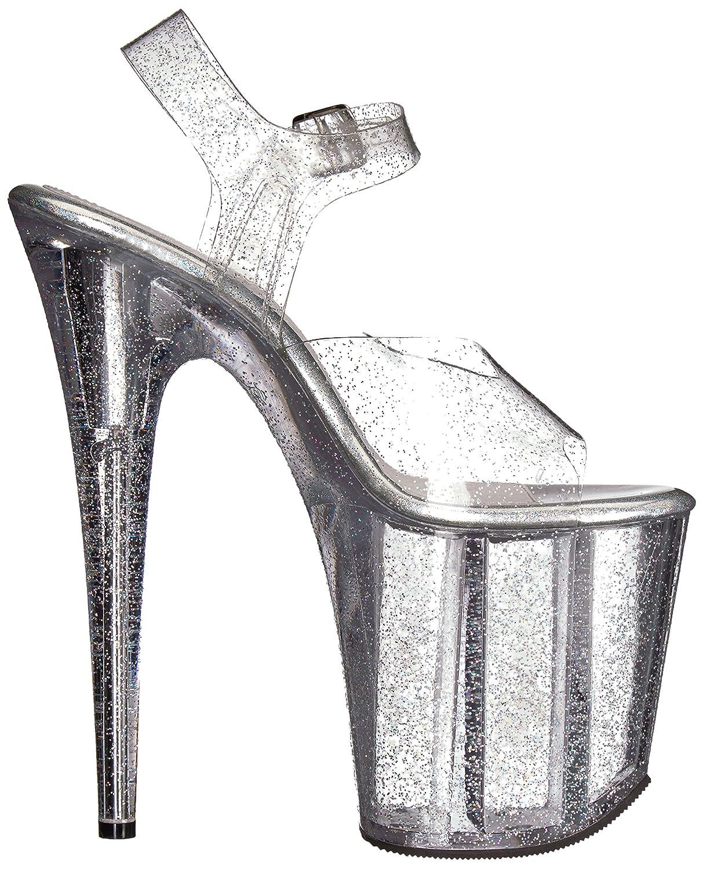 Pleaser Women's Flamingo-808mmg Sandal B06XNKYZ29 11 B(M) US|Clr/Clr