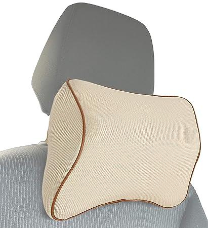 MyGadget Cojin de Cuello para Coche - Almohada Cervical con Soporte Ortopédico para Conducir - Previene Dolor y Rigidez de Espalda Durante el Viaje - ...