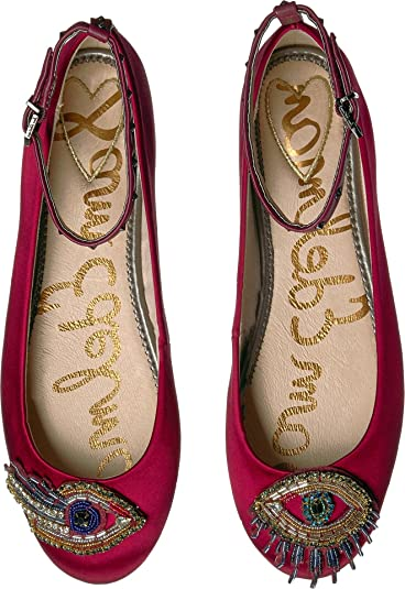 Sam Edelman Women's Ferrera 3 Red Multi/Blue Multi Medallion Tie Fabric Shoe