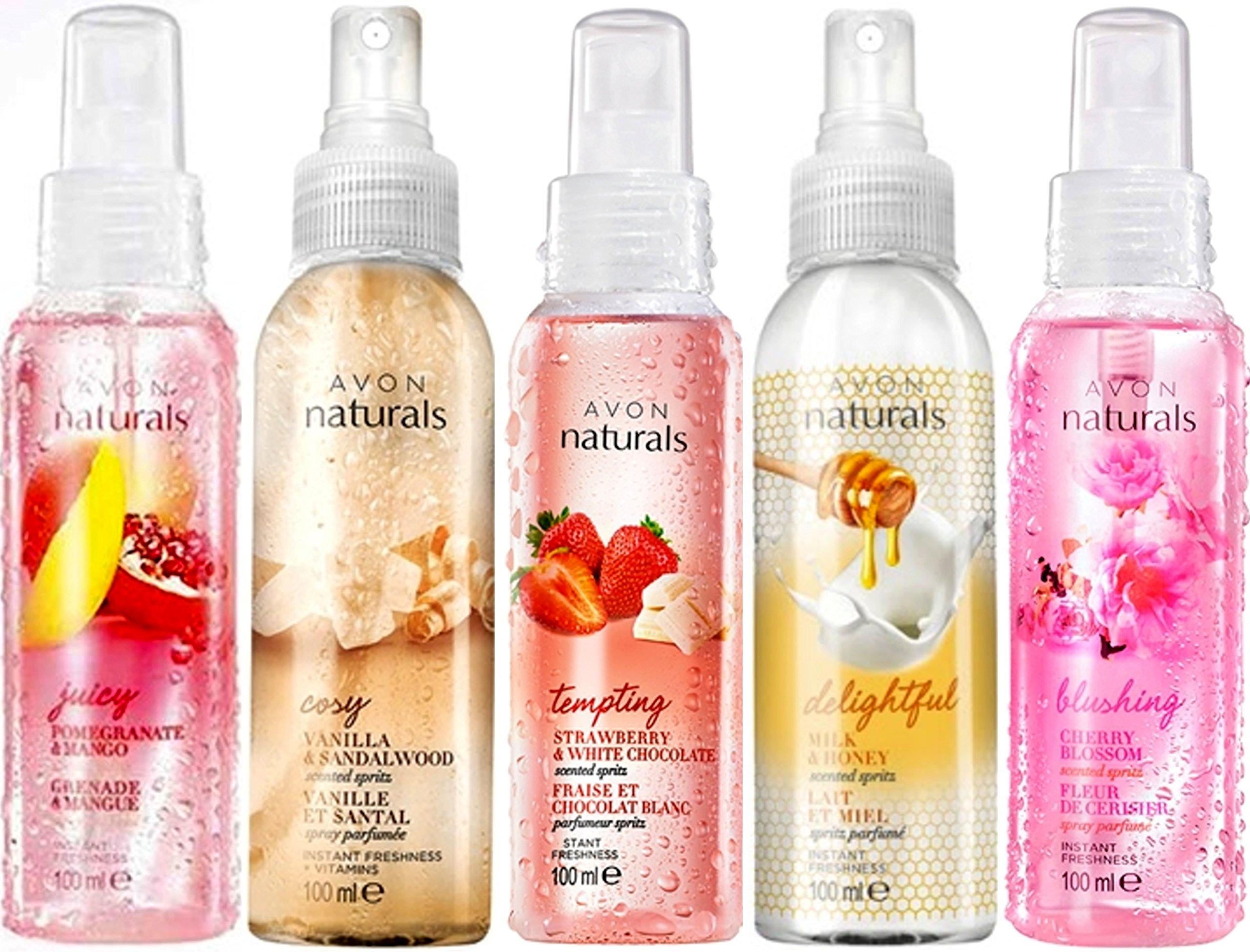 5 x Avon Naturals Body Spray Mix 5 x 100 ml - lucky dip