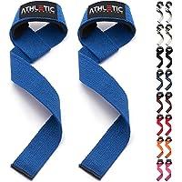 ATHLETIC AESTHETICS Profi Zughilfen [Gepolstert] + Grundübungs Guide - 60 cm Länge für Krafttraining, Bodybuilding & Fitness - Lifting Straps für Frauen & Männer Geeignet - 2 Jahre Garantie