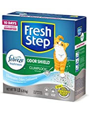 Fresh Step Odor Shield Scented Litter with The Power of Febreze, Clumping Cat Litter, 14 lb
