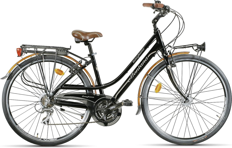 Montana 1930-F - Bicicleta para Mujer, Cuadro 48 cm, Color Negro: Amazon.es: Deportes y aire libre