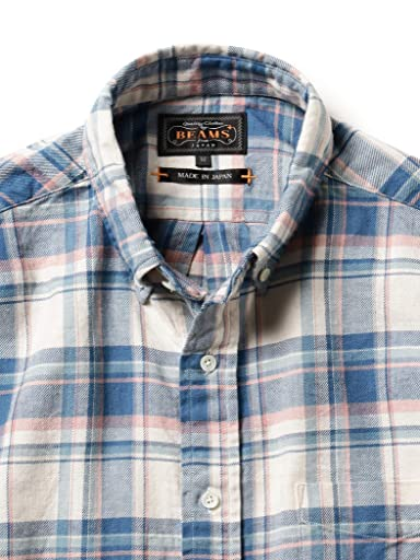 Cotton Linen Rayon Twill Buttondown Shirt 11-11-5202-139: Blue