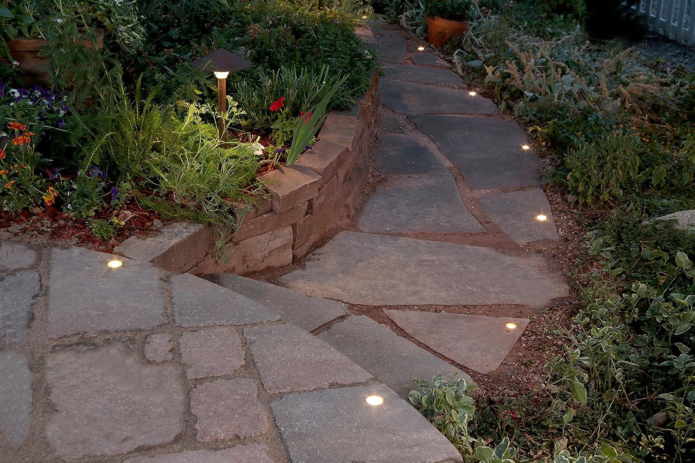 Amazon.com : outdoor led paver dot light kit by dekor lighting ...