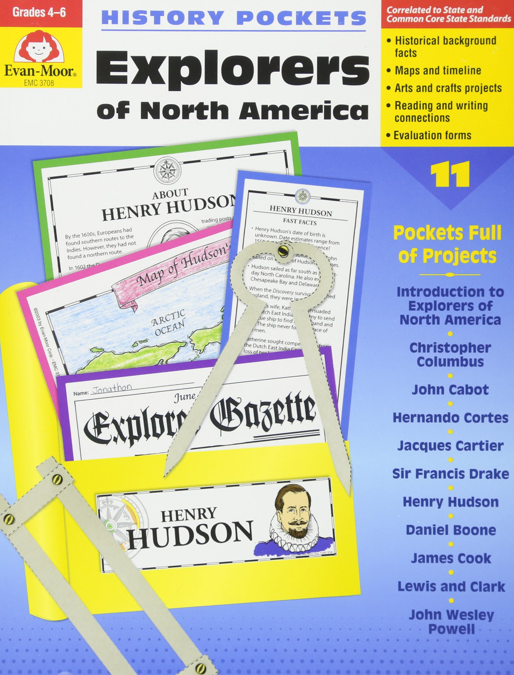 History Pockets: Explorers of North America, Grades 4-6+