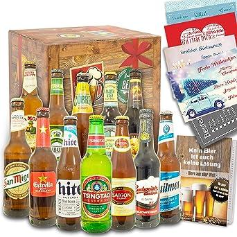 Biere Der Welt 12 Flaschen Geschenke Fur Manner Amazon De Bier