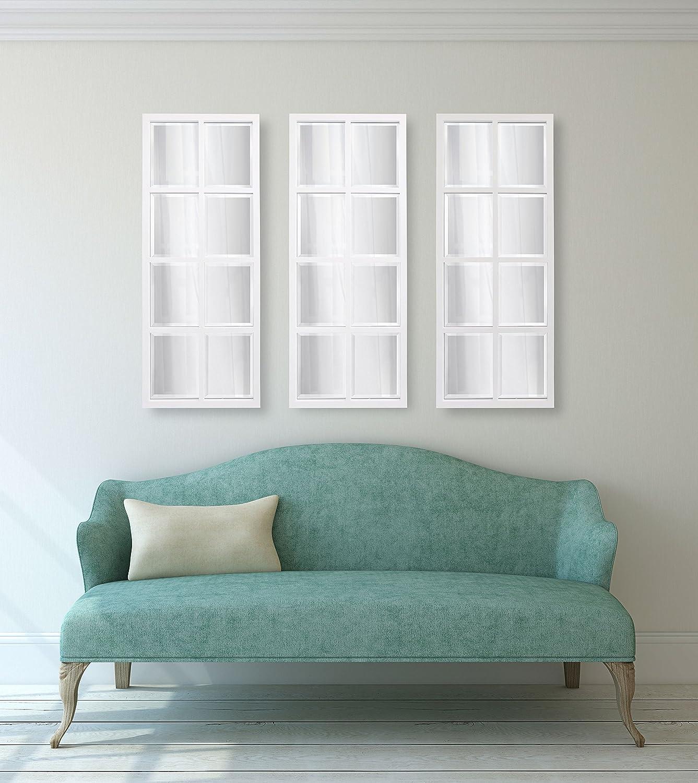 Amazon.com: Kate and Laurel Stryker 8-Pane Windowpane Framed Wall ...