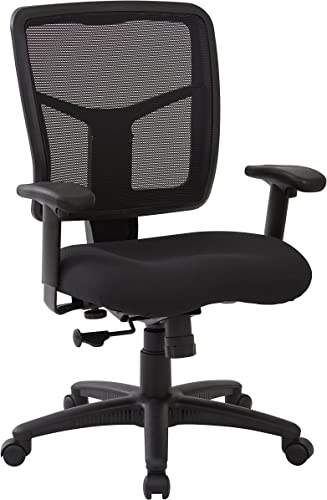 Office Star Mesh Back and Dove Fabric Seat Managers Chair
