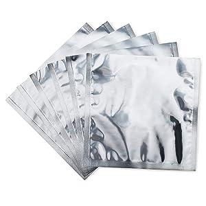 Mylar Food Storage Bags (8x8, Quart) 4 mil Thick Mylar Foil Bag for Dry Food Storage (50 Pack)