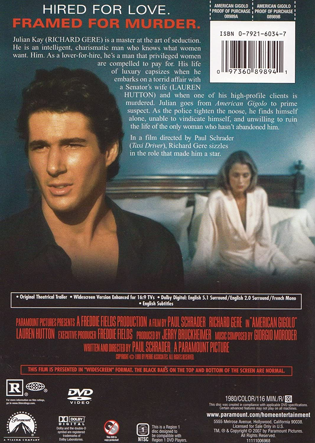 American Gigolo [Reino Unido] [DVD]: Amazon.es: Cine y Series TV
