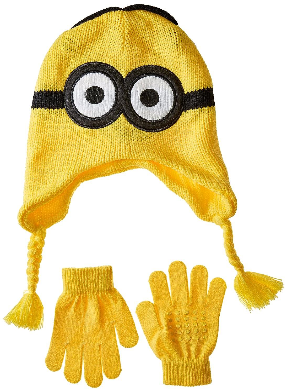 Despicable Me Boys Little Reversible Laplander /& Glove Set
