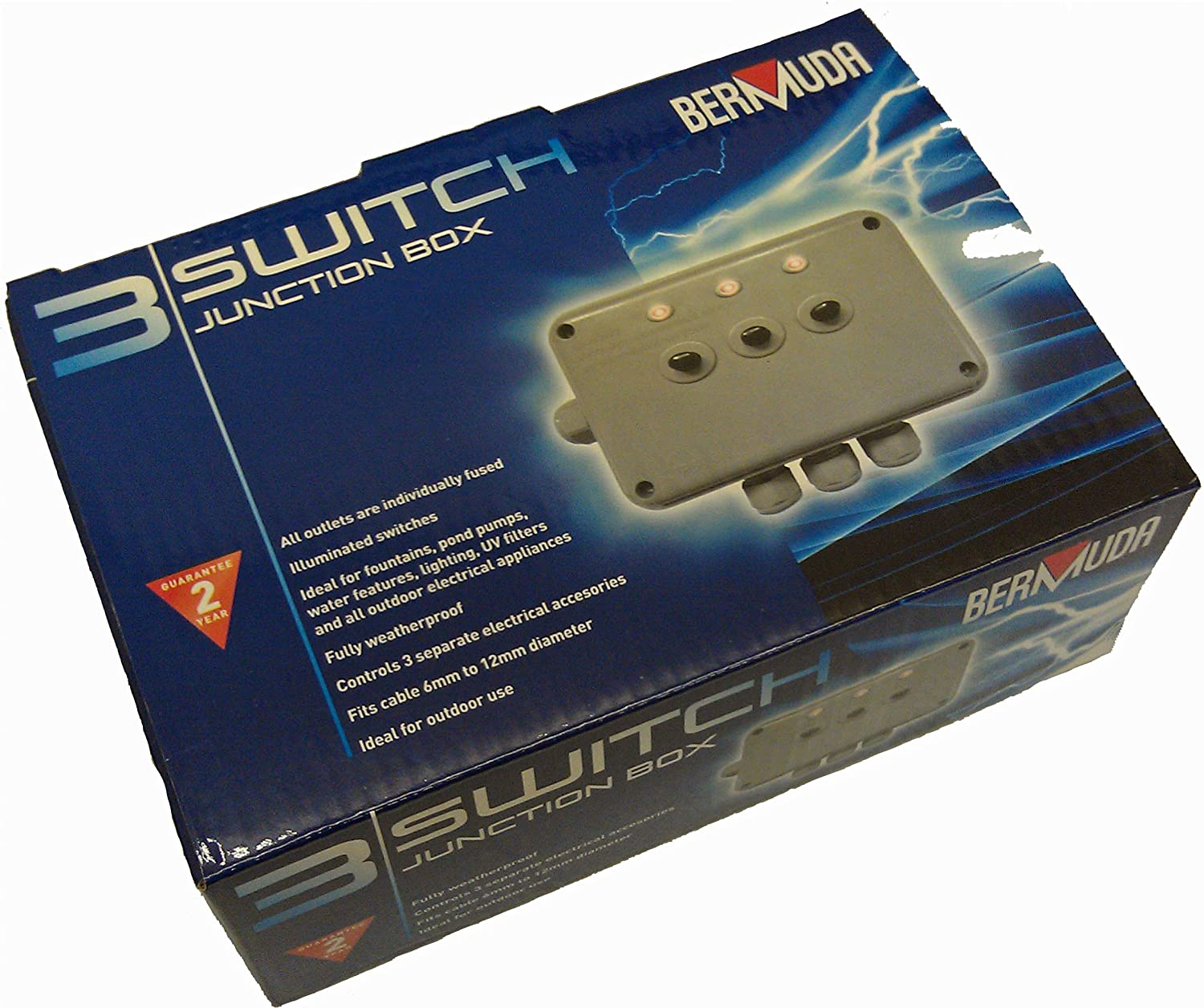 91J0WxkutML._SL1500_ bermuda 3 switch weatherproof junction box amazon co uk kitchen fused junction box for trailer at reclaimingppi.co