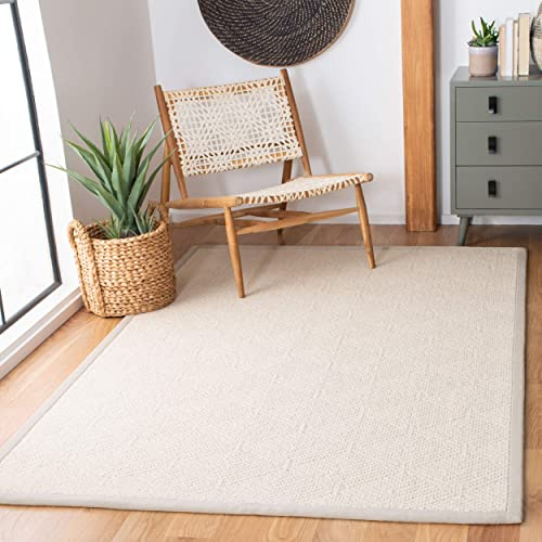 Safavieh Natural Fiber Collection NF483A Flat Weave Wool Jute Area Rug