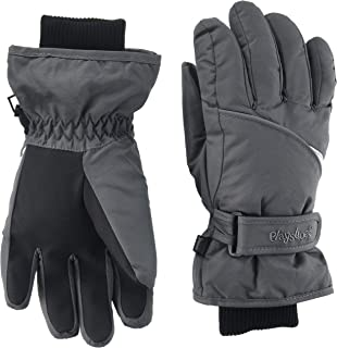 129586d59486ff Playshoes Kinder Schnee-Handschuhe mit Thinsulate-Technik und Schneefang im  Schaft Unisex Fingerhandschuhe mit