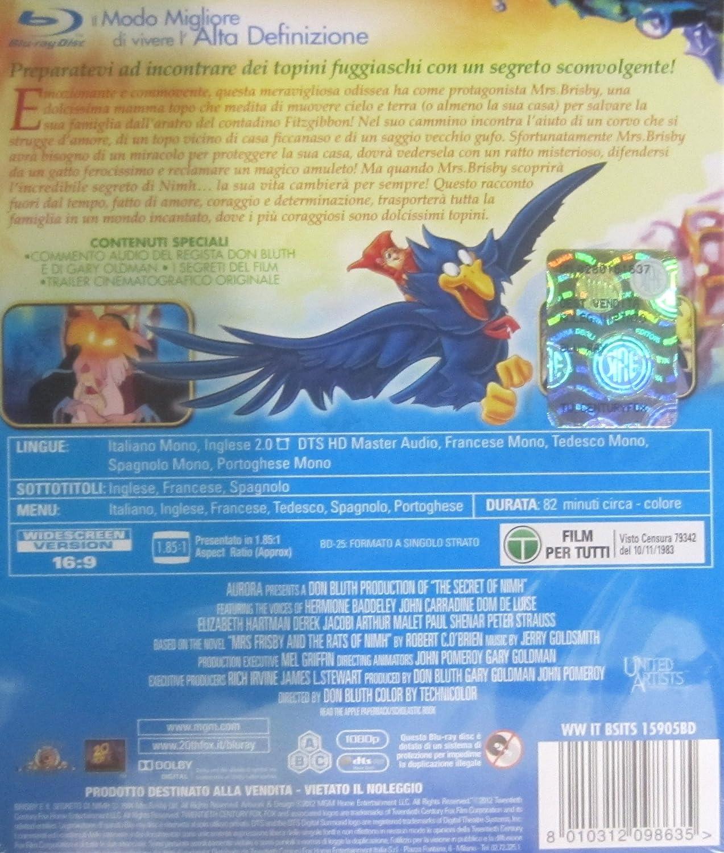 brisby e il segreto di nimh blu-ray disc registi Italia Blu-ray: Amazon.es: vari: Cine y Series TV
