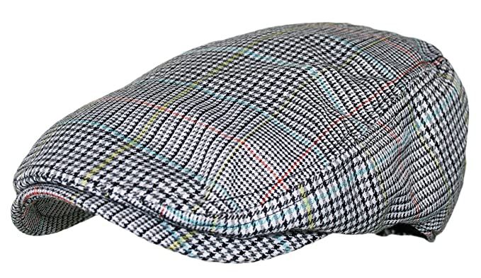 Plaid Pattern Ivy Driver Hunting Flat Newsboy Hat (Light Grey) at ... 8609355d1ba