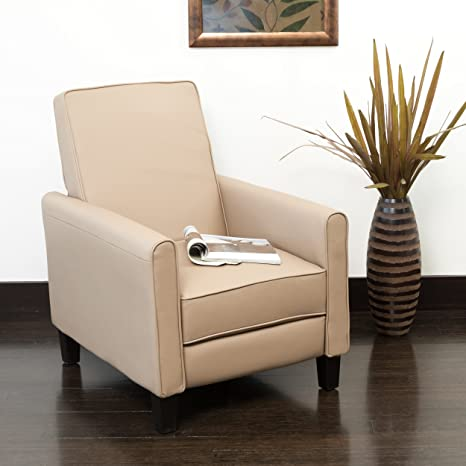 Pleasant Christopher Knight Home Lucas Camel Leather Recliner Club Chair Machost Co Dining Chair Design Ideas Machostcouk