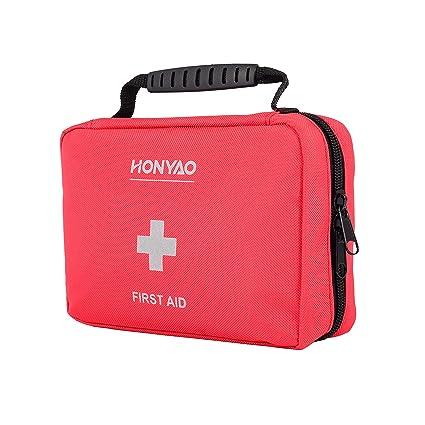HONYAO Botiquín de Primeros Auxilios, Mini Kit de Supervivencia - Bolsa Médico de Emergencia Completo para Coche Barco Motocicleta El Hogar Lugar de ...