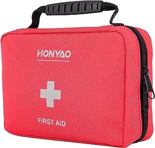 HONYAO Botiquín de Primeros Auxilios, Bolsa Médica de Emergencia - Kit de Supervivencia para el Hogar, Automóvil, Campamento, Oficina, para Viaje y Deportes Al Aire Libre: Amazon.es: Deportes y aire libre