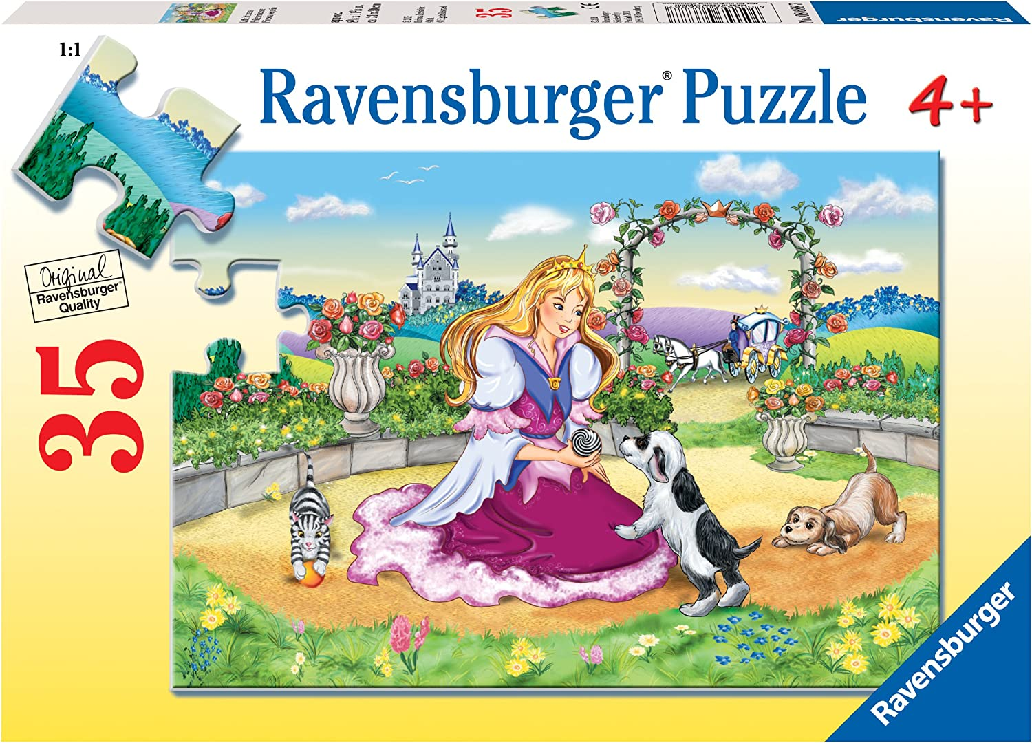 Every Piece is Unique Pieces Fit Together Perfectly 8688 35 Piece Jigsaw Puzzle for Kids Ravensburger Little Princess