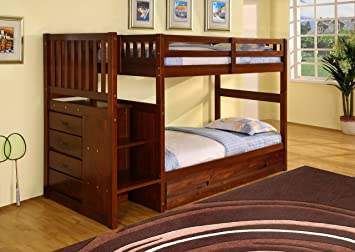 Amazon Com Discovery World Furniture Staircase Bunk Bed With