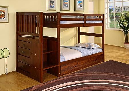 Etagenbett Mit Ausziehbett : Discovery welt möbel treppe etagenbett mit ausziehbett twin über
