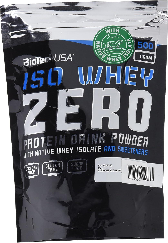 Biotech Isowhey Zero Lactose Free, Proteínas con sabor de Original, 500 gr