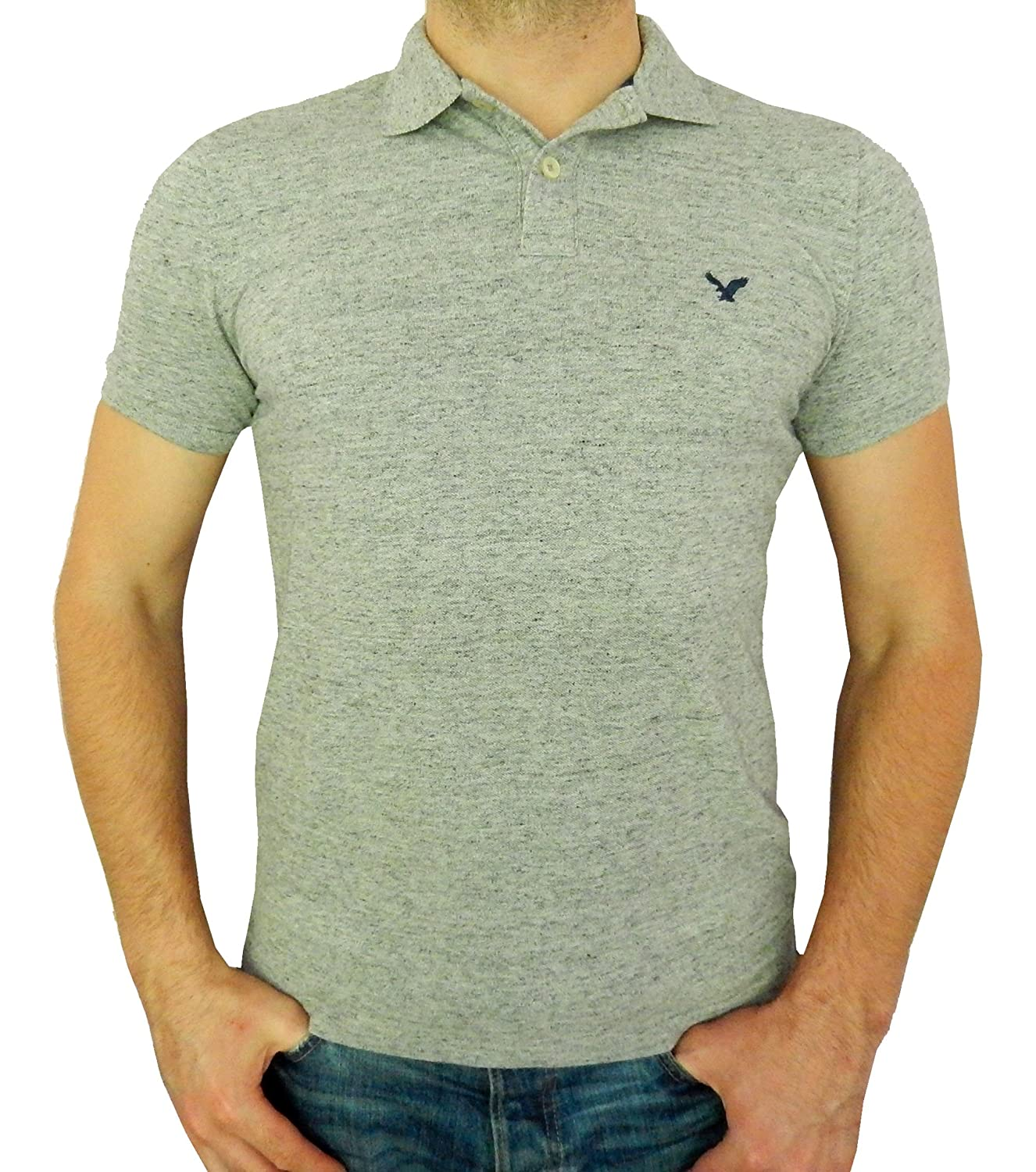 American Eagle Outfitters Core Flex Mens Classic Fit Mesh Solid Polo T-shirt at Amazon Mens Clothing store: