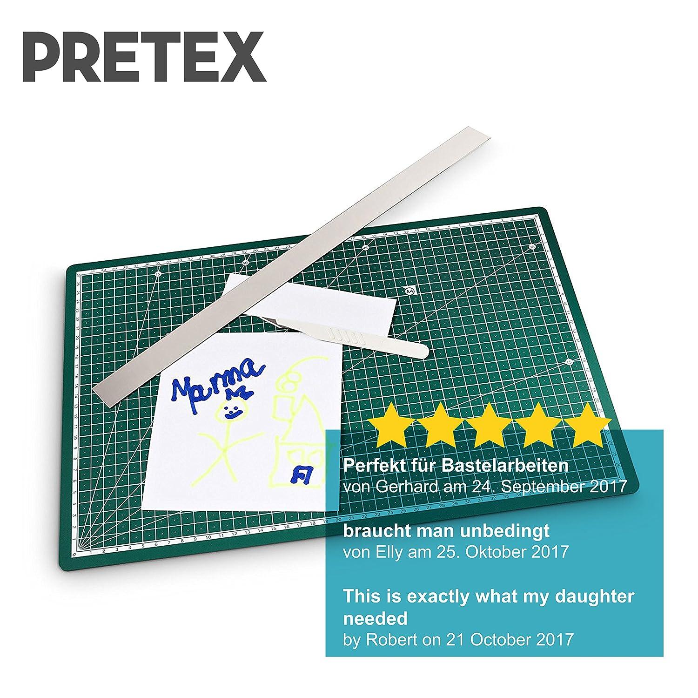 PRETEX Schneidematte 45 x 30 cm A3 aus recyceltem PVC in grün