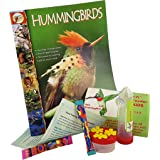 Nature Bird Hand Held Hummingbird Feeder Gift Kit for Family Fun–easy instructions plus: Zoobooks magazine; window-to-hand convertible feeder for child/adult; 3-port palm feeder; nectar mix; fun facts