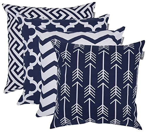 Accent-Home-Square-Printed-Cotton-Cushion-Throw-Pillow
