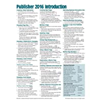 Microsoft Publisher 2016 Quick Reference Guide Introduction - Windows Version (Cheat Sheet of Instructions, Tips & Shortcuts - Laminated Card)