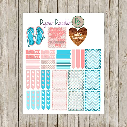 June Monthly Theme Planner Sticker Kit Made To Fit Most Any Planner, Happy  Planner, Erin Condren, Plum Paper, Planner Accessories